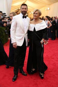 Hugh Jackman and Deborra-Lee Furness at the 2014 Met Gala.
