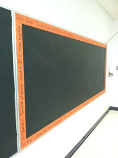 Don't have any border for your bulletin boards? Colby LaBoube has the best idea. Use sentence strips and write quotes on them!