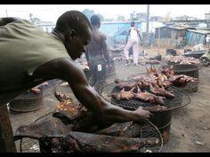 Brobo barbecue Ivory Coast, Barbecue, Beef, Food, Animales, Meals, Meat, Barrel Smoker, Essen