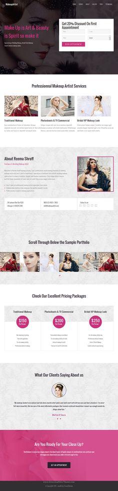 Wealth is beautiful onepage responsive WordPress #template for Multipurpose #landingpage website. #makeupartist #beautician Download Now!