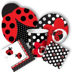 Host your lucky ladybug themed party using Discount Party Supplies' ladybug party supplies. We offer ladybug balloons, plates, party favors and more! Ladybug Party Supplies, 1st Birthday Party Supplies, Baby 1st Birthday, First Birthday Parties, First Birthdays, Birthday Ideas, Ladybug Birthday Invitations, Ladybug 1st Birthdays, Frozen Birthday