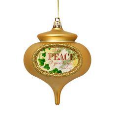 Christmas Carol Peace Ornament, EE3OT4719P