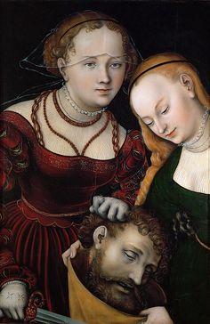 Judith With The Head Of Holofernes And A Servant by Lucas Cranach the Elder