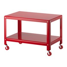 "IKEA PS 2012 Coffee table, red $49.99--  Article Number : 503.069.89 -- 18.75"" high"