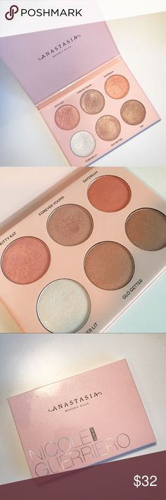Anastasia Beverly Hills Nicole Guerriero Glow Kit One of the finer Glow Kits from ABH. Gently used, just tying to downsize my makeup collection! There is PLENTY of product in this.. it will last for so long! Anastasia Beverly Hills Makeup