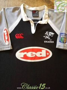 05973ec5b6c 2004 Sharks Home Super 12 Rugby Shirt (XL). Rugby ShirtsCanterbury SharksShark