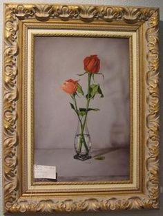 pintura realista, dos rosas #decoracion Realistic paint of two roses www.mueblesalcala.com