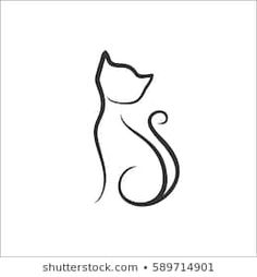 Similar Images Stock Photos & Vectors of Cat Silhouette. 1264726891 - Stock Photo - Ideas of Stock Photo Photo - Similar Images Stock Photos & Vectors of Cat Silhouette. Cat Silhouette Tattoos, Silhouette Vector, Rosen Tattoo Schulter, Tattoo Chat, Cat Tattoo Designs, Cat Sketch, Cat Design, Line Drawing, Food Drawing