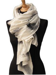 From SLOWLAB FIRENZE F/W2016 scarves collection. Nuno felt merino wool scarf.