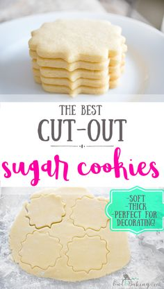 The best Sugar Cookie Cut Outs are soft, thick, sinfully buttery and taste amazing whether they are decorated or not! Make easy sugar cookie cut outs that keep their shape & edges. This is a no-chill recipe! Cookies decorated PERFECT SUGAR COOKIE CUT OUTS Sugar Cookie Recipe Easy, Soft Sugar Cookies, Easy Cookie Recipes, Professional Sugar Cookie Recipe, Best Cutout Cookie Recipe, Sugar Cookie Dough, Homemade Sugar Cookies, Sugar Cookie Recipe Betty Crocker, Best Sugar Cookie Recipe For Royal Icing