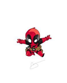 #Deadpool #Fan #Art. (Chibi Deadpool) By: Strangie800. (THE * 5 * STÅR * ÅWARD * OF: * AW YEAH, IT'S MAJOR ÅWESOMENESS!!!™)[THANK U 4 PINNING!!!<·><]<©>ÅÅÅ+(OB4E)