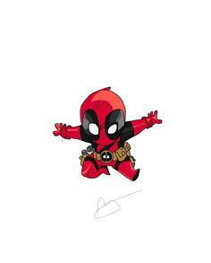 #Deadpool #Fan #Art. (Chibi Deadpool) By: Strangie800. (THE * 5 * STÅR * ÅWARD * OF: * AW YEAH, IT'S MAJOR ÅWESOMENESS!!!™)[THANK U 4 PINNING!!!<·><]<©>ÅÅÅ+(OB4E)