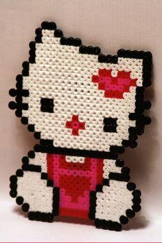 hello kitty /  Perler Beads - Hama perlen - Bügelperlen
