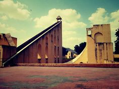 worlds largest sundial buit from stone that can give time of an accuracy of 2 seconds at jantar mantar jaipur city read more info at www. Rajasthan India, Jaipur, Jantar Mantar, Astronomical Observatory, Virtual Travel, Sundial, Tourist Places, World Heritage Sites, Architecture Design