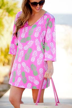 30280d5905 Monogrammed Swim Cover Up Monogrammed Tunic Monogrammed Tickled Pink Gift,  Swimsuit Cover, Swim Cover