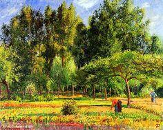 Camille Pissarro(1830ー1903)「Peupliers l'après-midi」