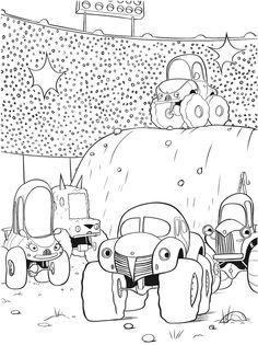 Beautiful Monster Truck Coloring Book 68 Monster Trucks Coloring Book