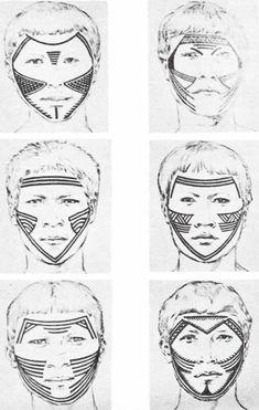 Pintura facial indígena.
