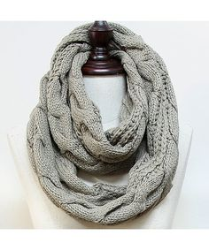 Cozy by LuLu - Fisherman's Knit Infinity in Taupe