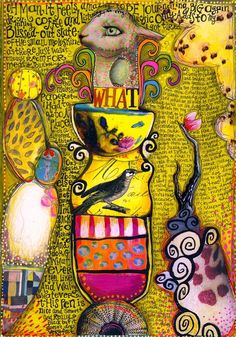 """Wondering about art journaling?  Can't figure out how to do it """"right""""?  Take a look at all the different ways and ideas of doing things and be inspired to find your OWN way.  There IS no right or wrong, there's just the is of expressing yourself. :-)"""