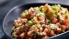Tatar z łososia - Kuchania Lidla Appetizer Dips, Lidl, Meat Recipes, Pasta Salad, Risotto, Potato Salad, Ethnic Recipes, Cooking, Google