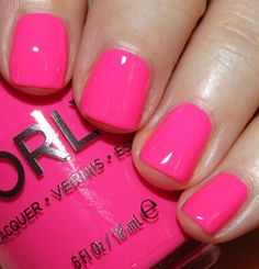 Manicure ideas for short nails summer hot pink 27 new Ideas - Boxer Braids - Coins - Hot Neon Pink Nail Polish, Summer Nails Neon, Bright Pink Nails, Neon Nails, Nail Polish Colors, Spring Nails, Orly Nail Polish, Nail Polishes, Stylish Nails