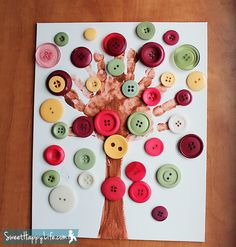 Our Preschool Button Tree | Art and Craft Projects for Kids
