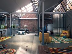 For all the space that loft apartments offer, maybe less is more. Colors run rampant in this apartment and set it apart from most others