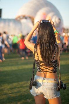 LOOKBOOK @ Coachella 2013 | LB LOG // Trestle Back Bustier from UO, BDG Shorts / Leica M6 and Nikon FG Cameras