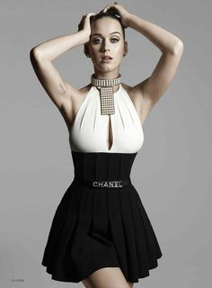 Katy Perry in Chanel for ELLE 2015