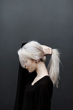 Silver hair - maintain cool shades of blonde like this with the best purple shampoos...