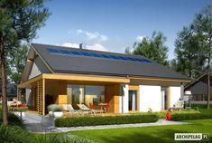 Projekt domu Iwo II G2 ENERGO PLUS - Archipelag.pl My House Plans, Cottage Renovation, Small Room Design, Japanese House, My Dream Home, Home Projects, Planer, Bungalow, Pergola