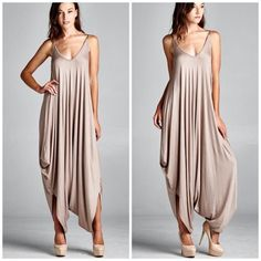 Best selling  Jumpsuit Gorgeous mocha jumpsuit nwot rayon and spandex blend Available in Mocha now  one size will fit S M L Please comment for personal listing thank you . Vivacouture Pants Jumpsuits & Rompers