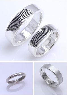 Best 24 Unique Fingerprint Wedding Ring https://weddingtopia.co/2018/02/28/24-unique-fingerprint-wedding-ring/ There are two main big forms of fingerprints, and tons of lesser used ones