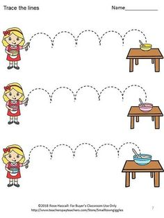 Fine Motor Skills Fairy Tales Tracing Activities P-KK image 2 Writing Center Kindergarten, Preschool Writing, Pre Writing, Tracing Worksheets, Preschool Worksheets, Preschool Activities, Social Emotional Activities, Tracing Sheets, School Fun