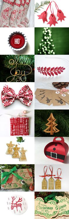 Getty ready for Christmas treasury by Jes Brabers on Etsy, featuring Vank's leather Christmas ornaments.