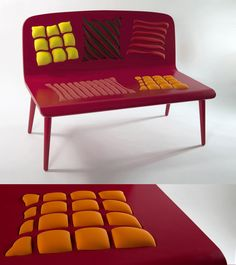 Poppins Op Art Bench From Alessandra Baldereschi