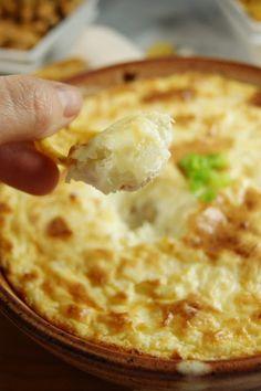 Hot Onion Souffle Dip ~ an easy, creamy, crowd-pleasing dip! www.thekitchenismyplayground.com #onion #dip