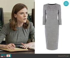 Karen Millen Tailored Dress worn by Rose Leslie on The Good Fight Work Fashion, Fashion Outfits, Mother Of Bride Outfits, Minimal Wardrobe, Power Dressing, Rose Leslie, Business Attire, Karen Millen, Work Attire