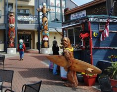 #LoveYourRV - Port Angeles waterfront shops - BIGFOOT heading out to rip some narly Pacific Coast Waves in Western Washington