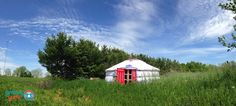 Tess's yurt is a dreamy vision!