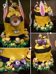 Minions Easter Hat • Easter Bonnet Idea • Easter Hat DIY Easter Bonnets For Boys, Easter Hat Parade, Diy Hat, Easter Ideas, Minions, Special Occasion, School, Hats, The Minions