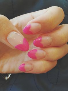 Current manicure! #nails #almondnails #manicure #cute #girly #fashion #pink #hearts #acrylic