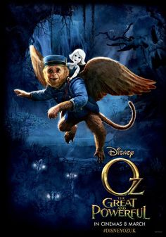 OZ: THE GREAT AND POWERFUL - Finley The Flying Monkey Gets His Own Poster. He was my favorite character.