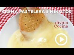 Esta receta de crema pastelera rápida en microondas se prepara en menos de 5 minutos y el resultado te va a sorprender. La textura y sabor son perfectos.