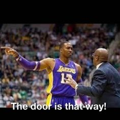 Karma is a BITCH! While Dwight Howard was showing then Head Coach Mike Brown the door, LAKER FANS then showed D12 the same door. 2013