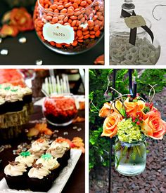 LOVE these flower colors and good idea for my trail mix bar.