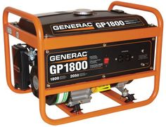 Generac 5981 GP1800 1,800 Watt 163cc OHV Portable Gas Powered Generator (CSA Approved) for sale