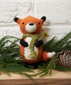 Fox Ornament crochet FREE pattern, nice! thanks so xox