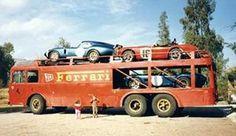 "Fiat Bartoletti as used by JCB historic racing team during the painted as Ferrari transporter for the movie "" Le Mans"" Ferrari Daytona, Ferrari Ff, Ferrari Racing, Classic Race Cars, Classic Trucks, Le Mans, Shelby Daytona, Nascar, Automobile"